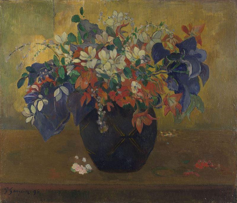 Çiçekli Vazo, 1896 resmi