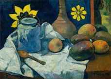Show Still Life with Teapot and Fruit, 1896 details