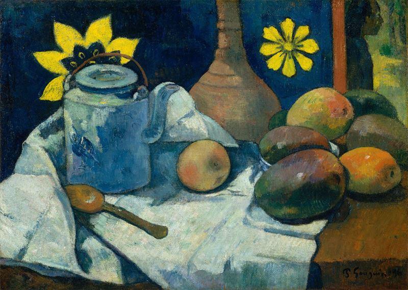 Çaydanlık ve Meyve ile Natürmort, 1896 resmi