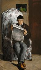 Show The Artist's Father, Reading L'Événement, 1866 details