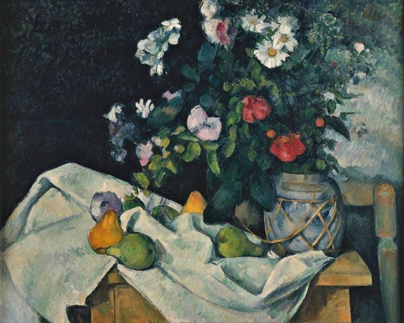 Çiçek ve Meyveli Natürmort, 1890 resmi