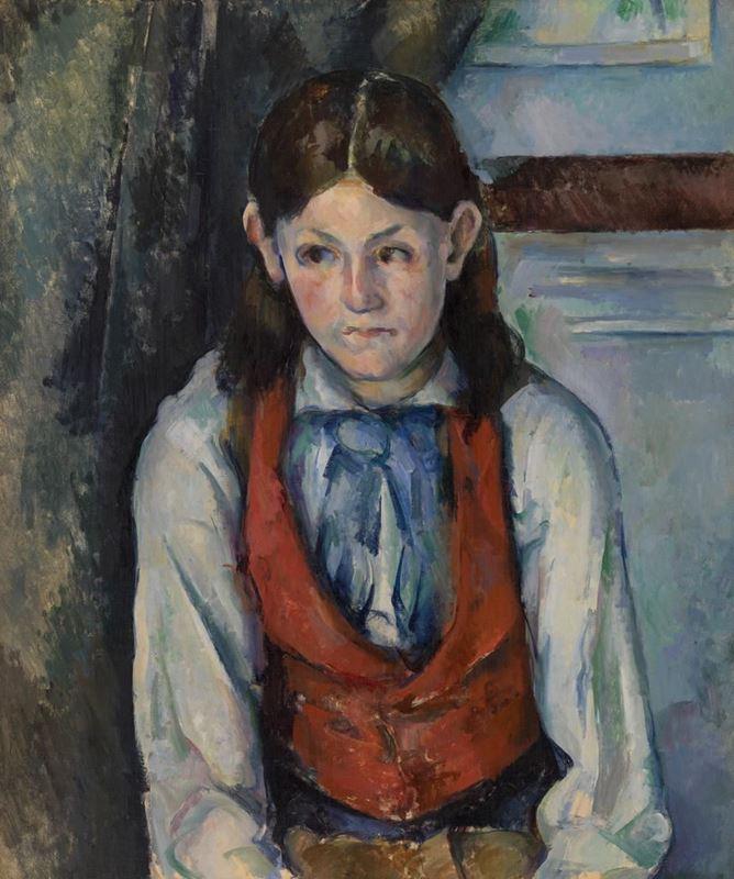 Kırmızı Yelekli Çocuk, 1888-1890 resmi