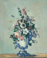 Show Flowers in a Rococo Vase, c. 1876 details