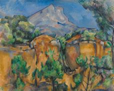 Show Mont Sainte-Victoire Seen from the Bibémus Quarry, c. 1897 details