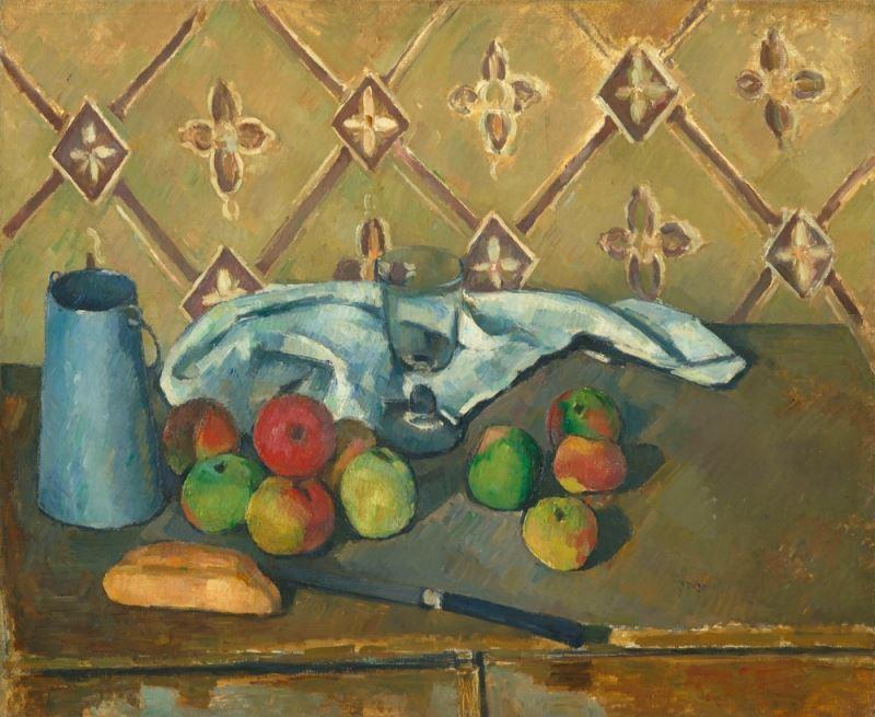 Meyveler, Peçete ve Süt Sürahisi, 1880-1881 resmi