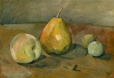 Show Still Life, Pears and Green Apples, c. 1873 details