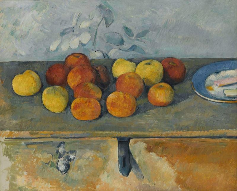 Elmalar ve Bisküviler, 1879-1880 resmi
