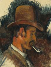 Show Man with Pipe, 1892-1896 details