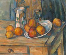 Show Still Life with Milk Jug and Fruit, c. 1900 details