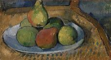 Show Plate of Fruit on a Chair, 1879-1880 details