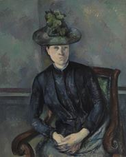 Show Madame Cézanne with Green Hat, 1891-1892 details