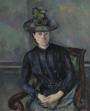 Yeşil Şapka ile Madam Cézanne, 1891-1892