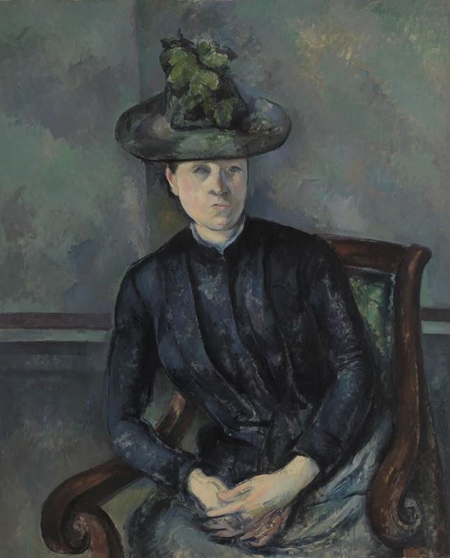 Picture for Madame Cézanne with Green Hat, 1891-1892