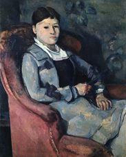 Yelpaze ile Madam Cézanne, 1878-1888
