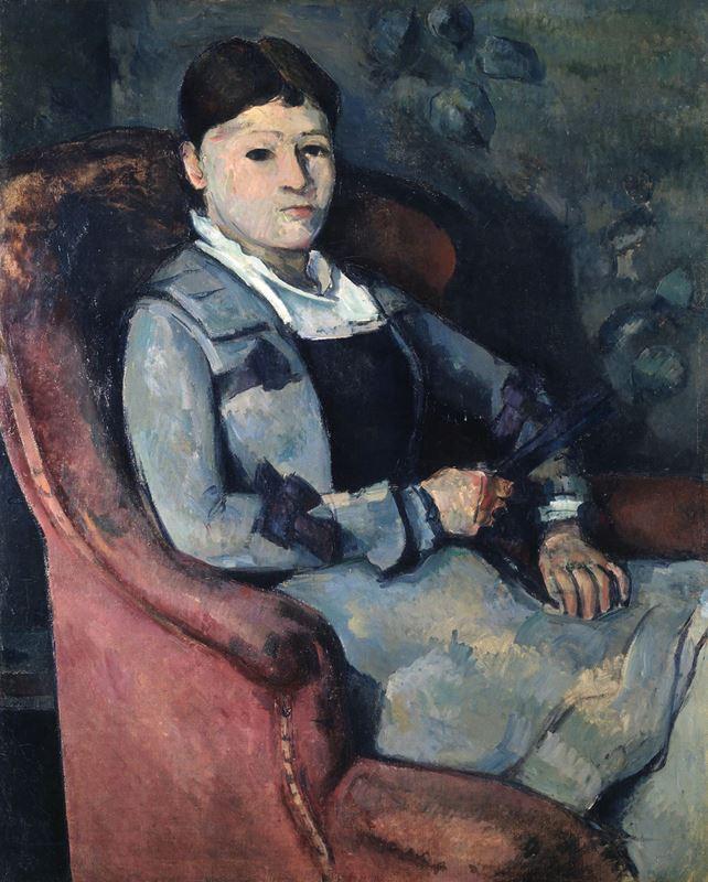 Yelpaze ile Madam Cézanne, 1878-1888 resmi