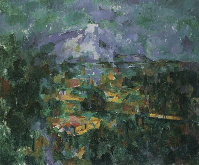 Lauves Yolu'ndan Sainte-Victoire Dağı, 1904-1906 resmi