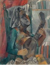 Show Woman with a Mandolin, 1909 details