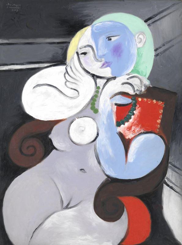 Kırmızı Koltukta Çıplak Kadın, 1932 resmi
