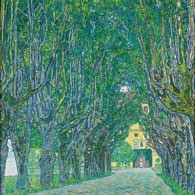 Schloss Kammer Park'ındaki Ağaçlı Yol, 1912 resmi