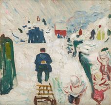Show Man with a Sledge, 1910-1912 details