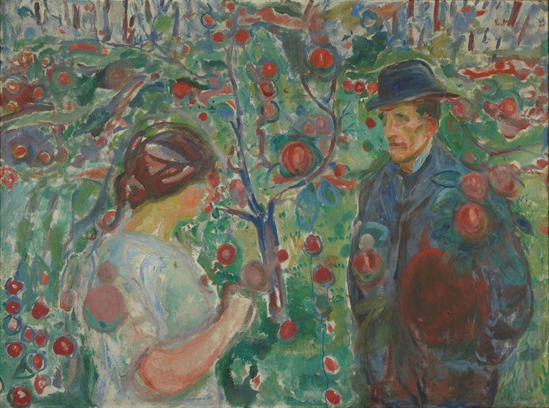 Kırmızı Elmalar Altında, 1913-1915 resmi