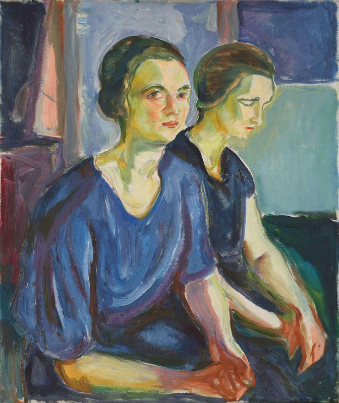 Oturan İki Kadın, 1924-1926 resmi