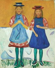 Show Two Girls with Blue Aprons, 1904-1905 details