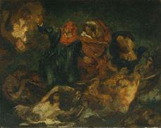 Dante'nin Kayığı (Delacroix'dan esinle), 1859