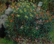 Çiçekler Arasında İki Kadın, 1875