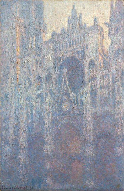 Sabah Işığında Rouen Katedrali Portali, 1894 resmi