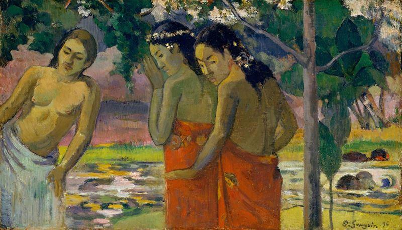 Tahitili Üç Kadın, 1896 resmi