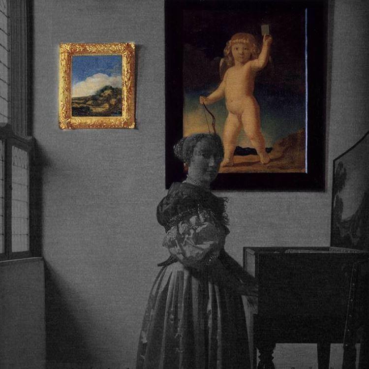 Piyanonun Yanında Duran Genç Kadın, 1670-1672 dolayları picture