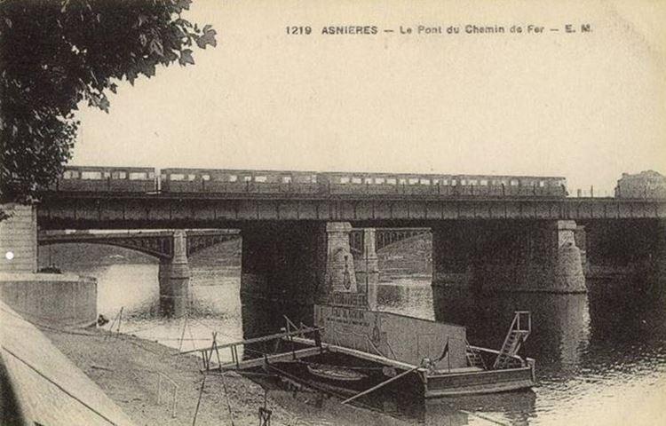 Asnières'de  Seine Nehri Üzerinde Köprü, 1887 picture