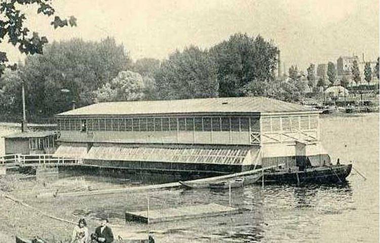 Asnières'de Seine Üzerinde Çamaşırhane Teknesi, 1887 picture