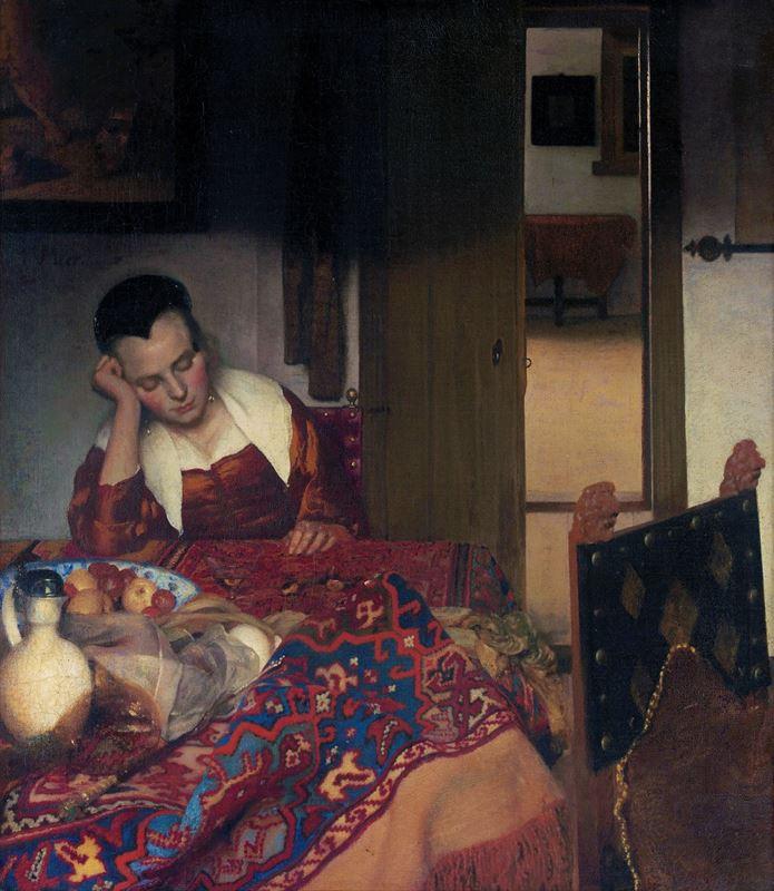 Uyuyan Genç Kız, 1656-1657 dolayları resmi