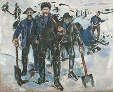 Show Workers in the Snow, 1913-1915 details