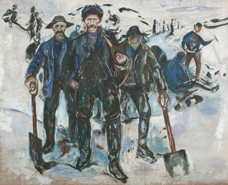 Picture for Workers in the Snow, 1913-1915