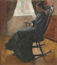 Show Karen Bjølstad in the Rocking Chair, 1883 details