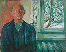 Show Self-Portrait by the Window, c. 1940 details