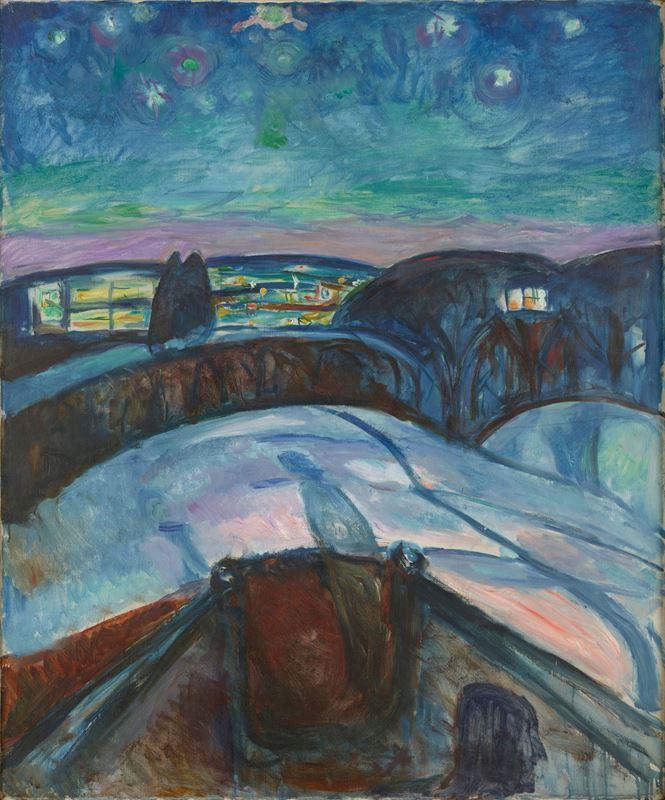 Yıldızlı Gece, 1922-1924 resmi