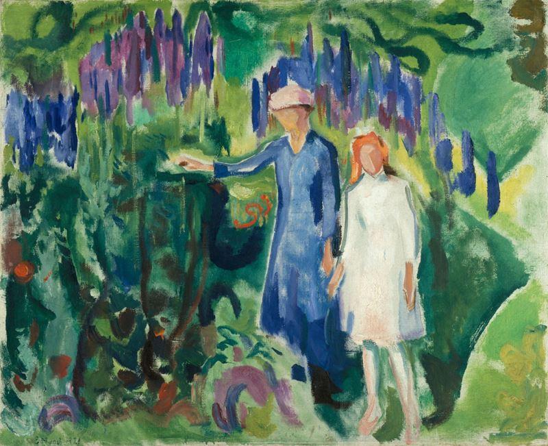 Anne ve Kızı Bahçede, 1920 resmi