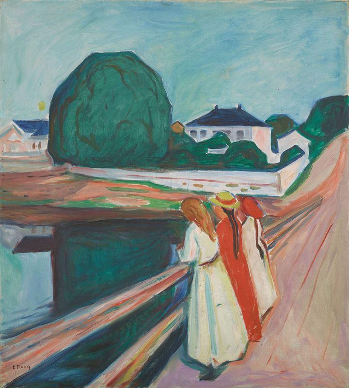 Köprüdeki Kızlar, 1927 resmi