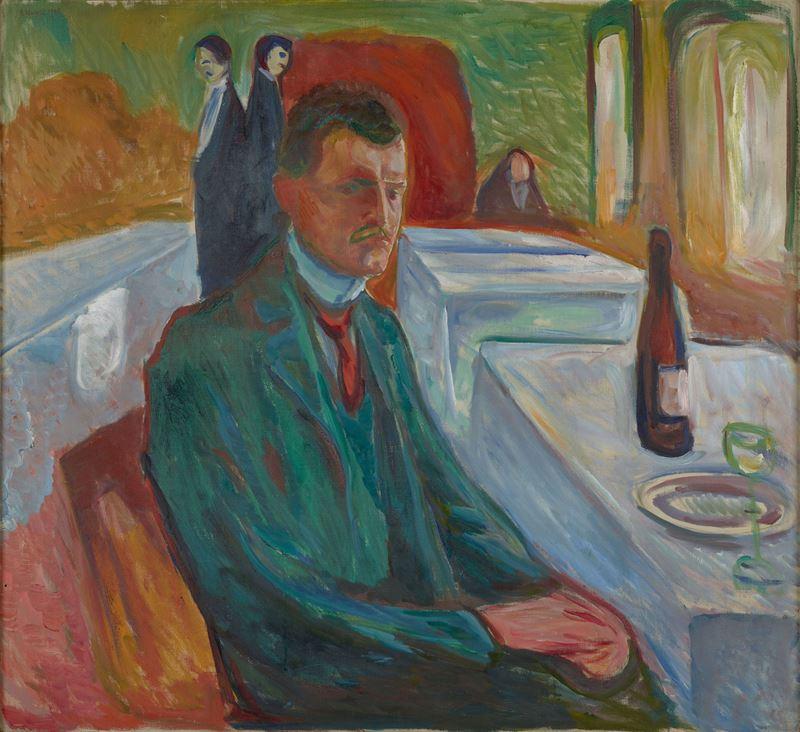 Bir Şişe Şarap ile Otoportre, 1906 resmi