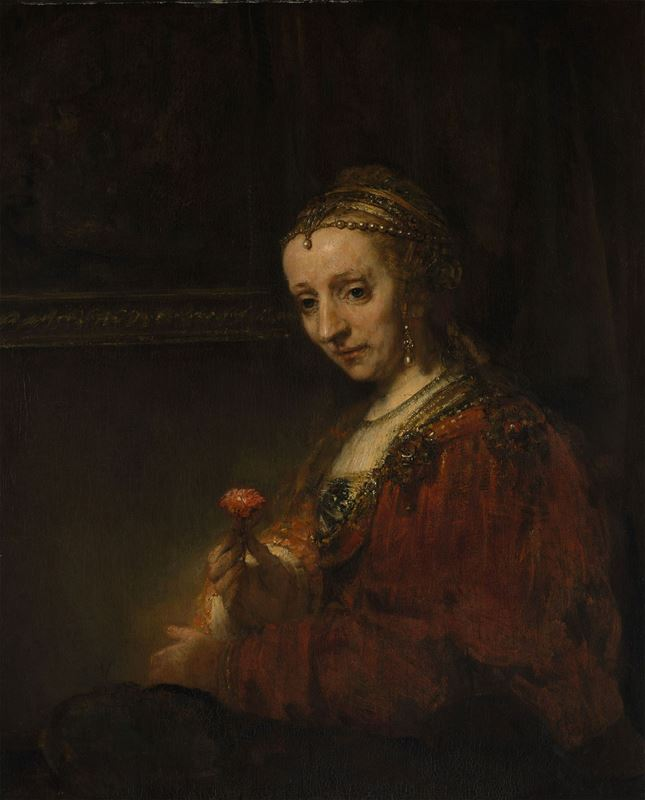 Picture for Woman with a Pink, 1660