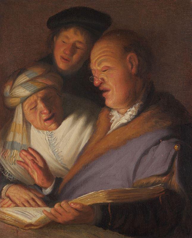 Üç Müzisyen (İşitme Alegorisi), 1624-1625 resmi