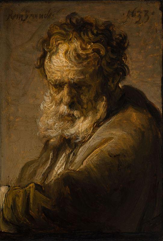 Sakallı Bir Yaşlı Adam Büstü, 1633 resmi