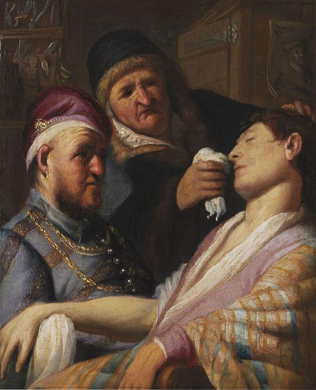 Bilinçsiz Hasta (Koku Alegorisi), 1624-1625 resmi
