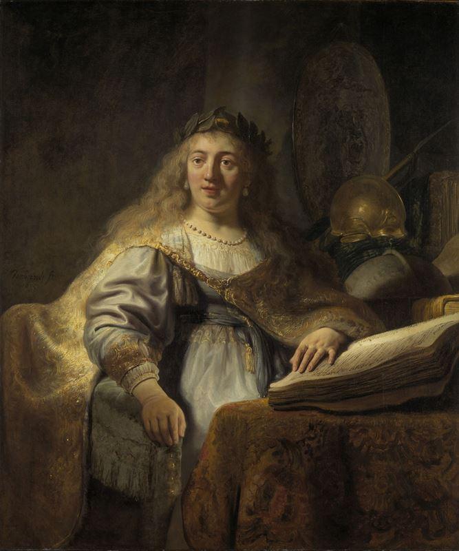 Çalışma Odasında Minerva, 1635 resmi
