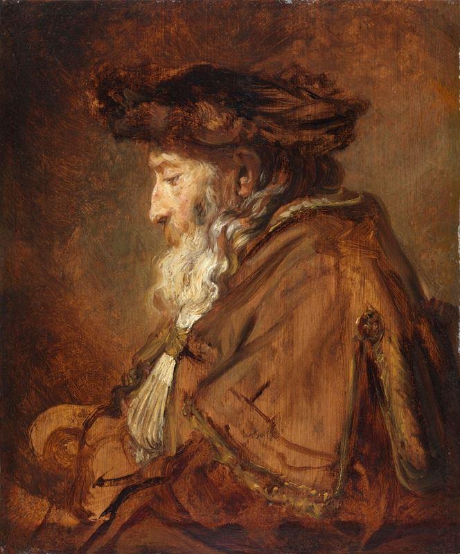 Yaşlı Bir Adam Portresi, 1645 dolayları resmi