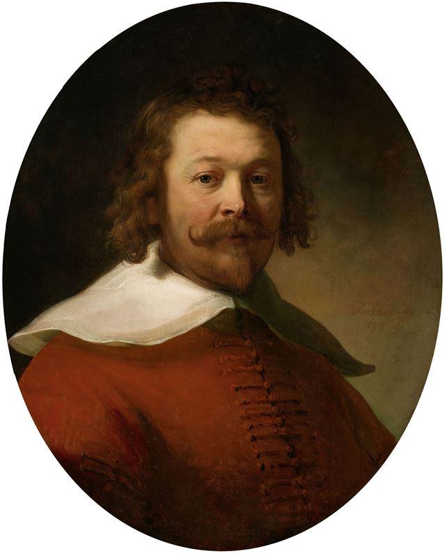 Kırmızı Paltolu Bir Adam Portresi, 1633 resmi